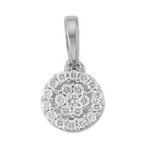 Gili, 18K White Gold, Diamond Fashion Pendant, 1/5 ctw