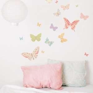Butterflies Girly Fabric Wall Decals