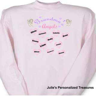 Personalized Grandmas Little Angels Sweatshirt Sm 4X