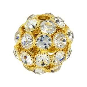28mm Crystal Rhinestone Gold Snowball Beads Arts, Crafts & Sewing