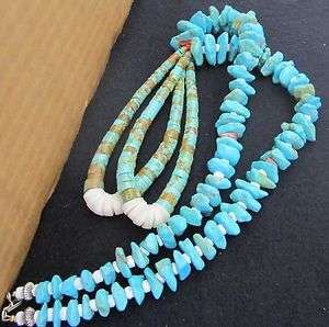 Navajo Turquoise Nugget Necklace With Jackla.