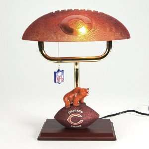 Chicago Bears NFL Mascot Desk Lamp w/ Football Shade (14
