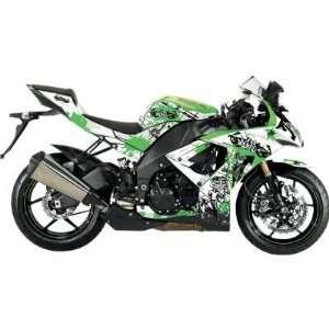 FLU Design F 60101 White/Green Graffiti Design for