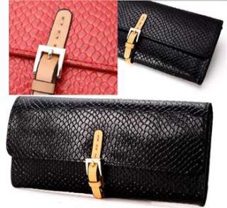 New Girls Real Leather Clutchs Wallet Long Purse Money Clip Free
