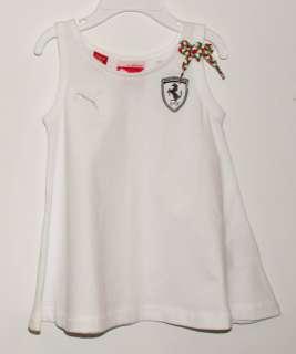 NEW PUMA FERRARI GIRLS FASHION TOP WHITE