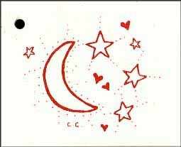 50 HANG TAGS MOON STARS CARDSTOCK SMALL IVORY PRICE TAGS