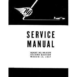 North American Aviation Navion Aircraft Service Manual Sicuro