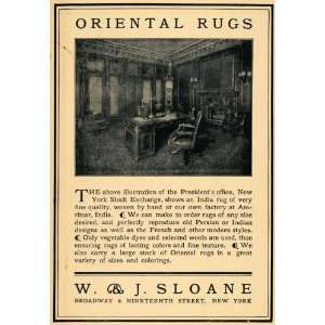 1904 Ad W & J Sloane Oriental Rugs Presidents Office