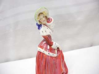 ROYAL DOULTON LADY FIGURINE CHRISTMAS MORN GREEN HAT HN 1992