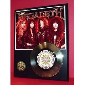 Gold Record Outlet MEGADETH 24kt Gold Record Display LTD