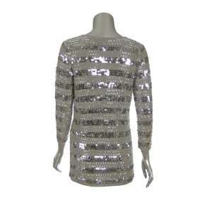 Sutton Studio Womens Embellished Cashmere Sweater Tunic
