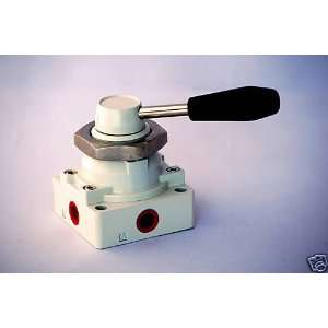 4 Way 3 Position Hand Operated Lever Pneumatic Air Valve 1