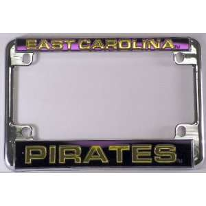Pirates Chrome Motorcycle RV License Plate Frame