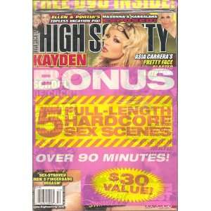 High Society Magazine December 2008 with Free Bonus C.D.: High Society