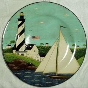 Warren Kimble Coastal Breeze Salad Plate   Sailboat