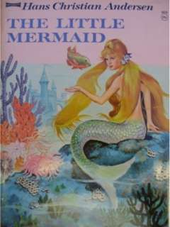 LITTLE MERMAID ORIGINAL VINTAGE COVER ART PAINTING ~ 1960 PRE DISNEY