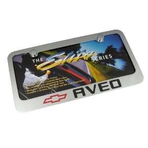 Chevy Aveo Chrome Brass License Plate Frame Automotive