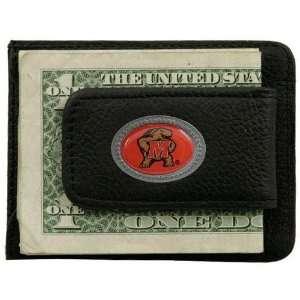 Terrapins Black Leather Card Holder & Money Clip