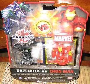 BAKUGAN vs MARVEL  RAZENOID vs IRON MAN MIP