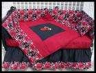 New Crib Bedding Set m/w NBA MIAMI HEAT fabric