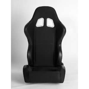 Cipher Auto Black Cloth Universal Racing Seats (Two Seats