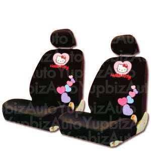 NEW Hello Kitty Low Back Car Seat Steering Covers Set