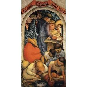 Diego Rivera   24 x 48 inches   Night of the Poor