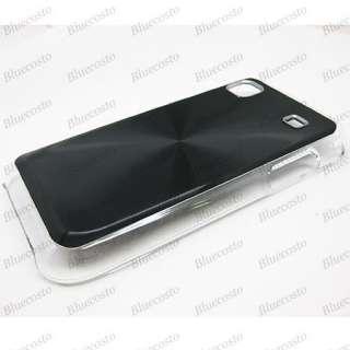 Black Hard Metallic Cover Case Samsung Galaxy S i9000