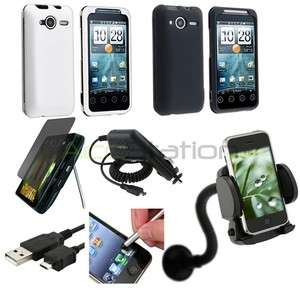 7x Accessory Bundle For HTC EVO Shift 4G Hard Case Charger Stylus