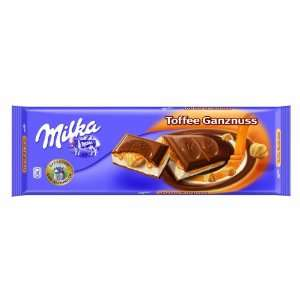 Milka Toffee Whole Nut Alpine Milk Chocolate Bar 300g