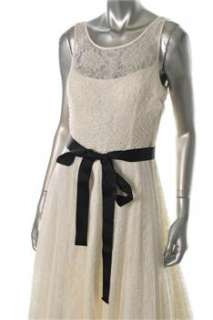 Aidan Mattox NEW Ivory Versatile Dress Lace Embellished 12