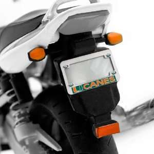 Miami Hurricanes Hologram Chrome Motorcycle License Plate