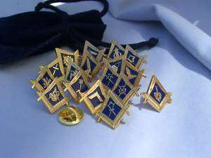 Complete Set Of 18 Masonic Lodge Officer Lapel Pins