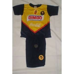 KIDS MEXICO SOCCER LEAGUE CLUB AMERICAS SOCCER SET SIZE 4  JERSEY AND