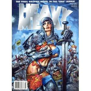 Heavy Metal March 2001 Illustrated Magazine kevin eastman