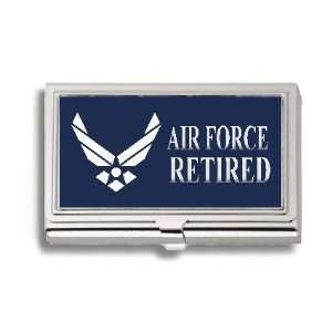 US Air Force Retired Business Card Holder Metal Case