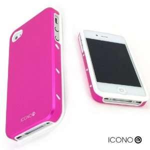 ICONO ARMOUR Passion Pink Premium Ultra Tough Slim Dual Layer Aluminum