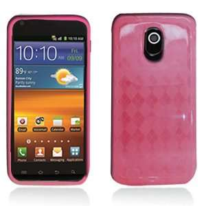 TPU Pink Check Silicone Skin Gel Cover Case For Samsung Epic 4G Touch