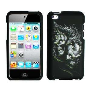 Apple ipod Touch 4g hard case cover Silver Dragon Skull