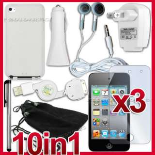 SILICONE CASE COVER HOME CHARGER FOR APPLE IPOD TOUCH 4TH GEN