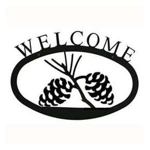 Pine Cone Welcome Sign Patio, Lawn & Garden