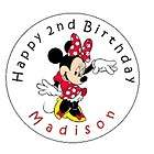 Mouse Birthday Personalized 2.5 Round Labels Favors Sticker Loot Bags