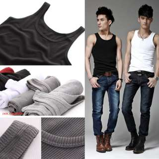 New Mens Boy Tank Top Vest Tee Shirt Undershirt Cotton Sleeveless