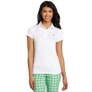 Quagmire Golf Womens Short Sleeve Solid Interlock Polo, White, Large