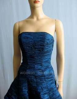 Jessica McClintock Blue Strapless Party Dress 4 XS $150