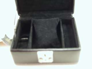 In Box Champ Collection Genuine Black Leather Jewelry Case Box