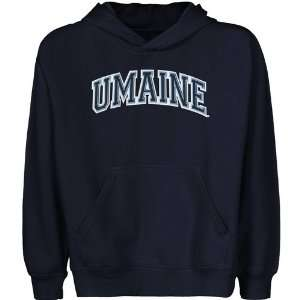 Maine Black Bears Youth Navy Blue Arch Applique Pullover Hoody