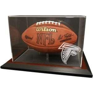 Atlanta Falcons Zenith Football Display   Mahogany