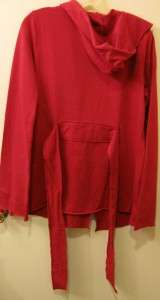 LUCKY BRAND KIMONO WRAP JACKET NEW RED LADIES L JINGO