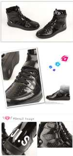 Men Casual High Top Sneakers Shoes Trainer Black US7~10